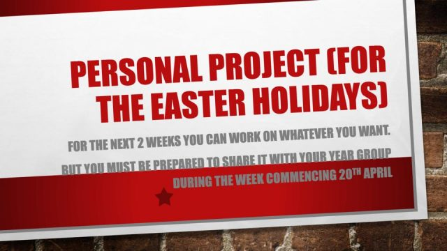 thumbnail of Personal project (for the easter holidays)